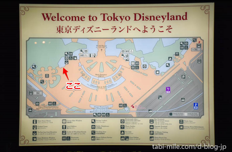 東京ディズニーランドゲートマップ