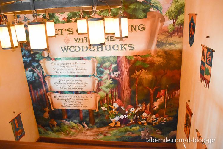 ディズニーランドキャンプウッドチャックキッチン階段壁紙