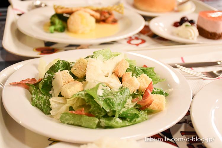 東京ディズニーランド レストラン クイーンオブハート シーザーサラダ