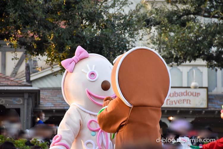 ディズニーランド クリスマスパレード 目の前 クッキーオーナメント