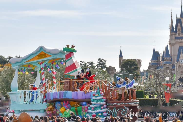ディズニーランド クリスマスパレード ミッキー ミニー 全体