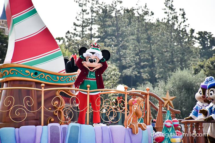 ディズニーランド クリスマスパレード ミッキー