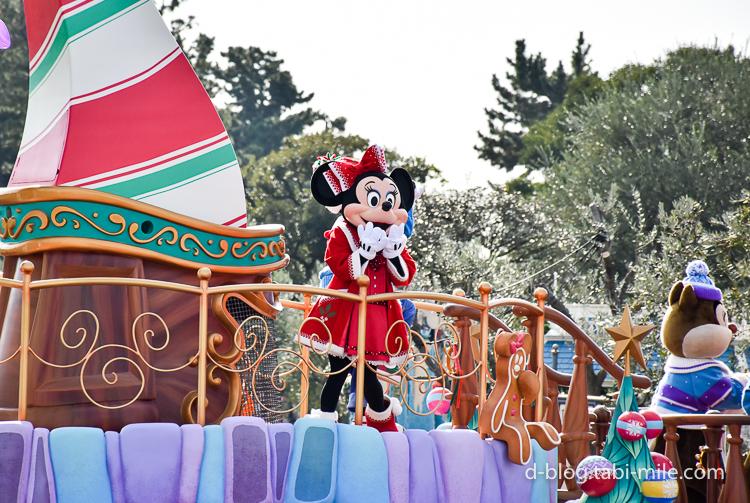 ディズニーランド クリスマスパレード ミニー