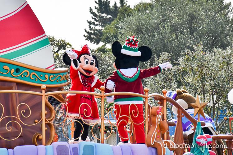ディズニーランド クリスマスパレード ミッキー ミニー
