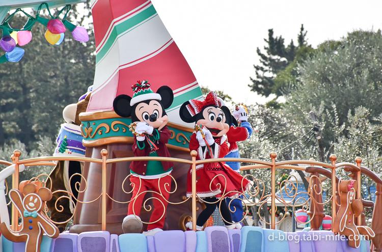 ディズニーランド クリスマスパレード ミッキーミニー鈴