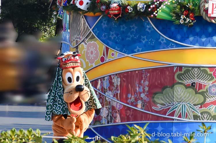ディズニーランド 正月2017 パレード プルート登場