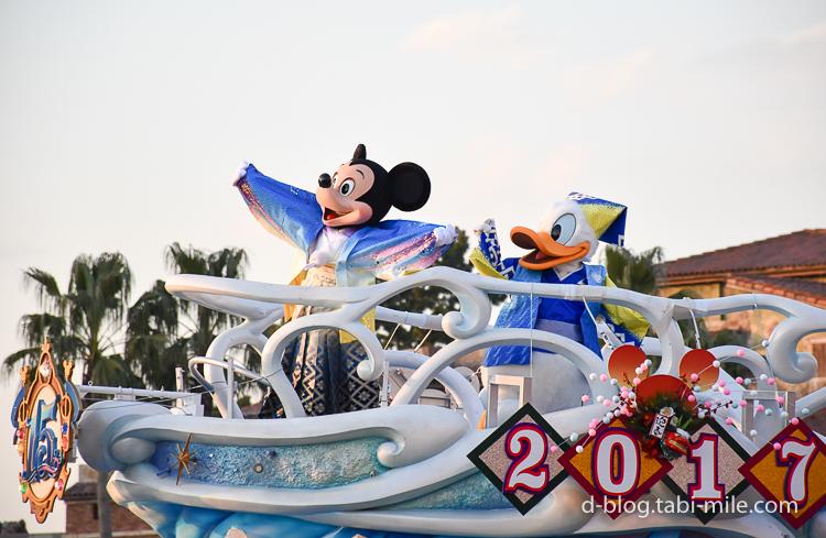 TDS 正月2017 パレード ニューイヤーズグリーティング ミッキーミニー陽気