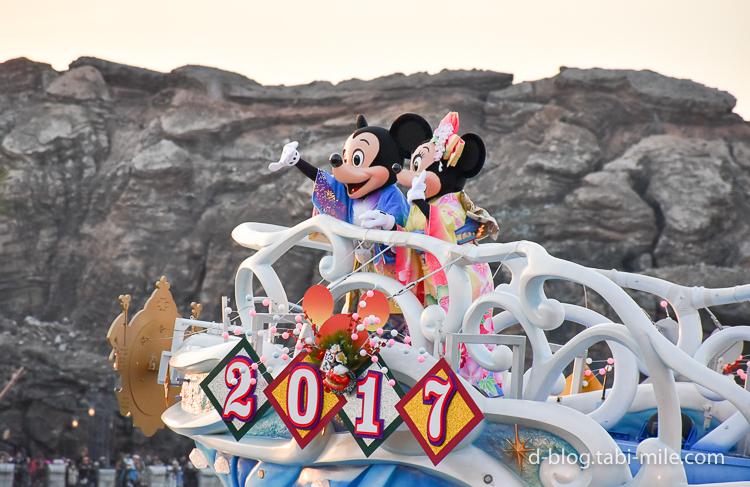 TDS 正月2017 パレード ニューイヤーズグリーティング ミッキーミニー