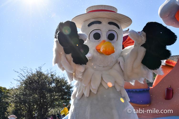 TDL フローズンファンタジーパレード ウェスタン 白い鳥