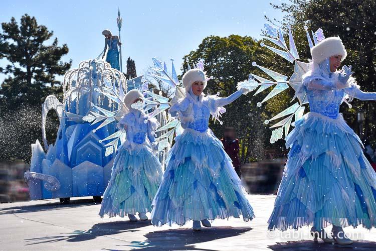 TDL フローズンファンタジーパレード ウェスタン ダンサーたち