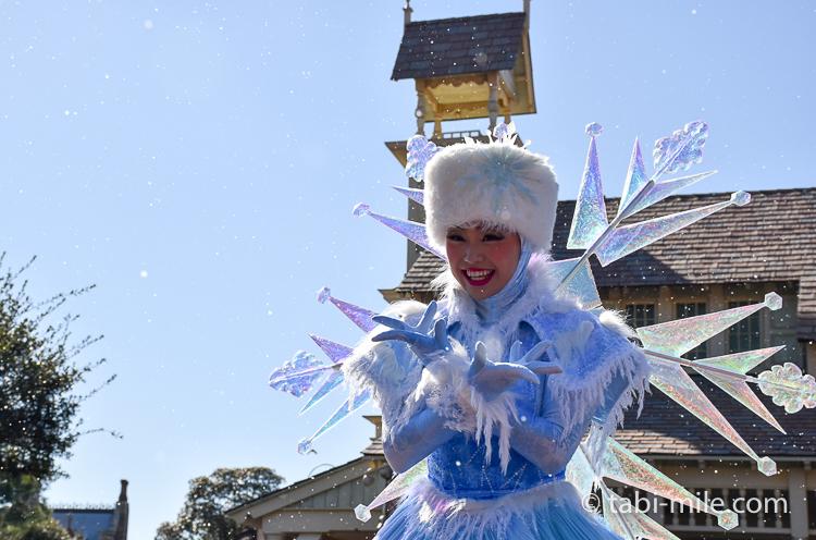 TDL フローズンファンタジーパレード ウェスタン ダンサー雪