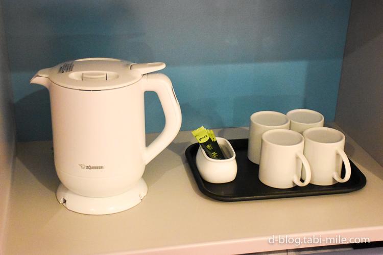 セレブレーションホテル ウィッシュ 部屋 ポット 緑茶