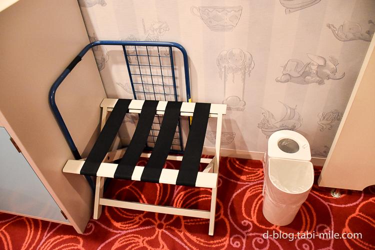 セレブレーションホテル ウィッシュ 部屋 荷物置き ゴミ箱