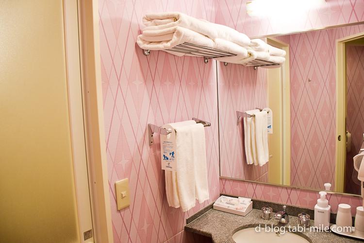 セレブレーションホテル ウィッシュ 部屋 洗面所 タオル