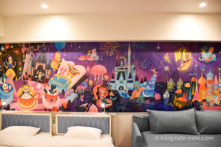 セレブレーションホテル ウィッシュ 部屋 壁紙 絵