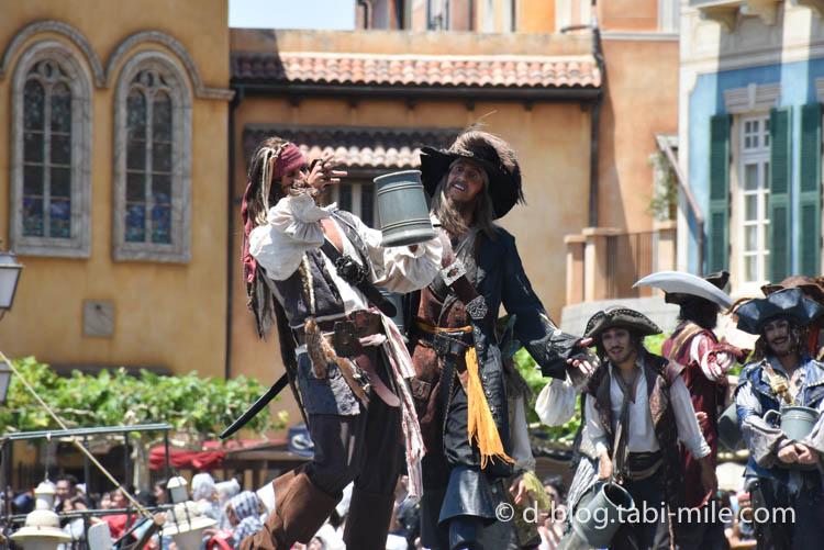 ディズニーシー パイレーツショー  海賊ジャックバルボッサ1