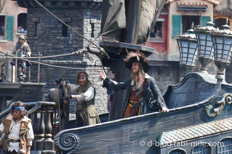 ディズニーシー パイレーツショー  海賊バルボッサ1