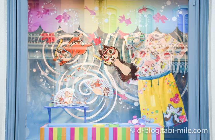 ディズニーランド夏祭り ワールドバザール ディズプレイチップ&デール1