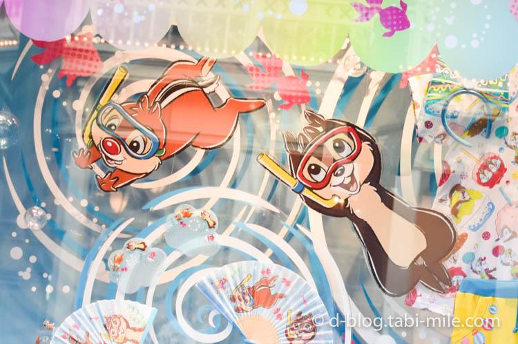 ディズニーランド夏祭り ワールドバザール ディズプレイチップ&デール2