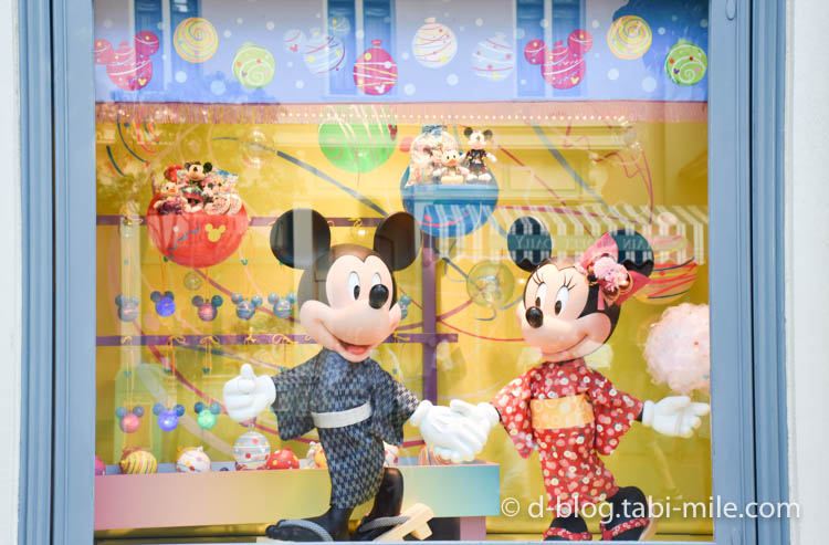 ディズニーランド夏祭り ワールドバザール ディズプレイミッキーミニー1