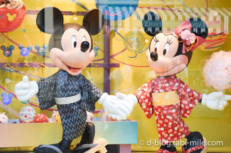 ディズニーランド夏祭り ワールドバザール ディズプレイミッキーミニー2