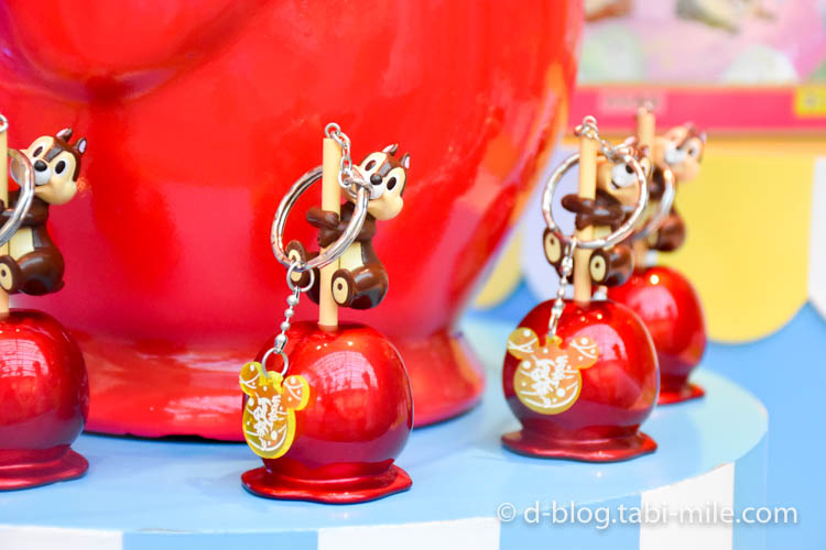 ディズニーランド夏祭り ワールドバザール ディズプレイチップ赤りんご