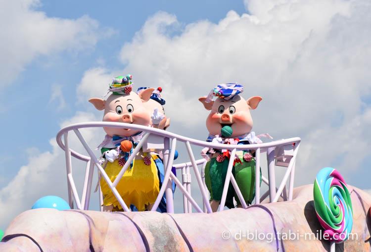 ディズニーランド ハロウィンショー キャラクター 3匹の子ぶた2ディズニーランド ハロウィンショー キャラクター 3匹の子ぶた3ディズニーランド ハロウィンショー キャラクター 3匹の子ぶた2