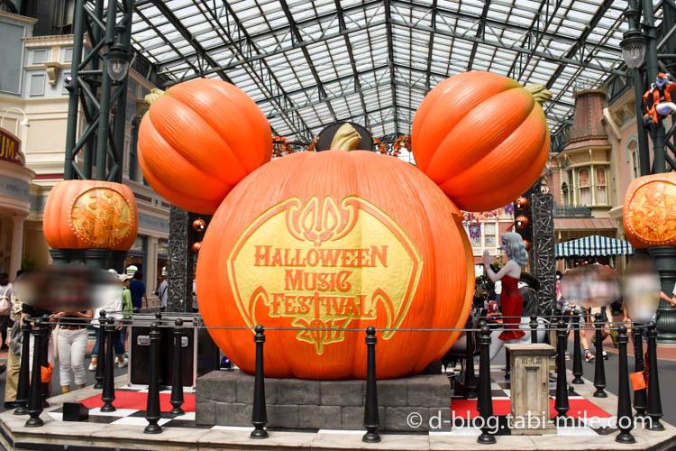 ディズニーランドハロウィン ワールドバザール フォトスポットかぼちゃ2