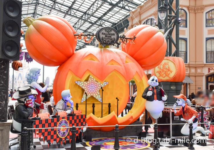 ディズニーランドハロウィン ワールドバザール フォトスポットかぼちゃ1